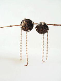 Leather Stud Earring