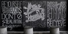 Beautifully Lettered Inspirational Quotes Created On A Chalkboard
