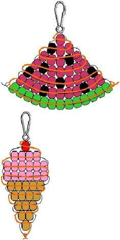 DIY – jewellry and beads Pony Bead Patterns Pony Bead Projects, Pony Bead Crafts, Beaded Crafts, Jewelry Crafts, Beading Projects, Beading Tutorials, Crafts With Pony Beads, Jewelry Ideas, Pony Bead Animals