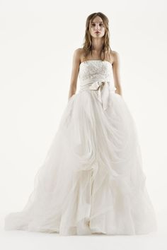 Vera Wang for David's Bridal strapless wedding dress