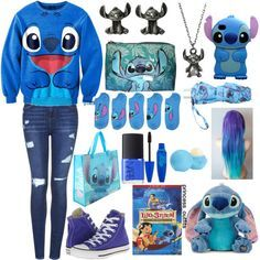 Stitch outfit by happyloves on Polyvore featuring polyvore, fashion, style, Topshop, Disney, Converse, Pink Stitch, Eos, NARS Cosmetics and clothing