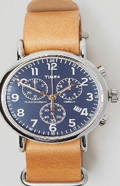 Timex Heritage Series Weekender Chronograph Watch Timex present this Weekender Chronograph watch as part of their heritage series, recreating some of their original designs. This watch features a tan leather strap with a classic buckle fastening, an  http://www.comparestoreprices.co.uk/watches/timex-heritage-series-weekender-chronograph-watch.asp