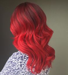 cool 45 Thrilling Ways of Achieving the Red Ombre Hair - Sassy Flames
