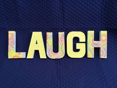LAUGH by Ribbonnthreads on Etsy