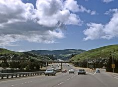 US Highway 101 at the Alto Mill Valley interchange in Marin County, California. 1969