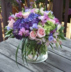 Flowers with the healing power to help her get through her post-surgical recovery. Table Flowers, Fresh Flowers, Purple Flowers, Beautiful Flowers, Purple Flower Arrangements, Floral Bouquets, Local Florist, Arte Floral, Flower Delivery