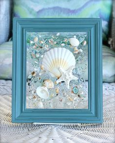 Beach Decor of Wall Decor, Beach Bathroom Decor Wall Hanging, Coastal Wall Art of Shells on Glass, Coastal Decor, Bathroom Art Strand-Dekor der Wand-Dekor-Strand-Badezimmer-Dekor-Wandbehang Sea Glass Decor, Sea Glass Crafts, Sea Glass Art, Clear Glass, Beach Wall Decor, Coastal Wall Art, Coastal Decor, Seashell Art, Seashell Crafts