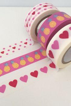 Wonderful washi tape - mini hearts and pineapples.