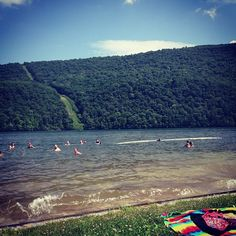 Raystown Lake in Huntingdon, Pa, is a 29,000 acre park with 12 public access areas, an 8,000 acre lake, picnic areas, beaches, boat launches, campgrounds, trails, hunting, fishing and marina concession stands - and a perfect spot in PA for swimming. #PASummerDays