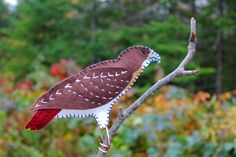 Red-tail Hawk felt ornament pattern.