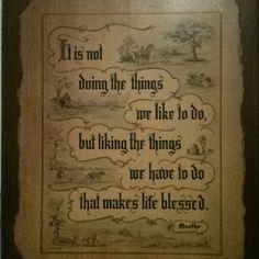 Goethe, - intrinsic motivation