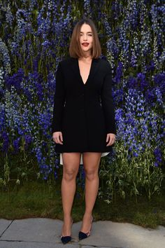 Pin for Later: 13 Things to Know About Dior's Stunning PFW Show Emilia Clarke Kept It Simple in All Black