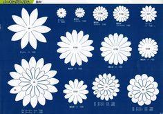 抜き弁の原寸大画像データー Crepe Paper Flowers, Paper Flowers Diy, Felt Flowers, Flower Crafts, Fabric Flowers, Flower Patterns, Flower Designs, Diy And Crafts, Paper Crafts