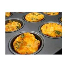 Mini Frittatas        4 large eggs      1/4 cup half-and-half      1/2 teaspoon salt      Assorted mix-ins (such as shredded cheese, diced vegetables, and cooked and chopped bacon, ham, or sausage)      Grated Parmesan cheese (optional)   350º F about 20 to 25 minutes and coat a 6-cup muffin pan with nonstick cooking spray.