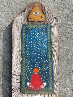 Night Large Rustic Handmade Shrine with Wooden White por Popielnik Images Of Mary, Sacred Feminine, Hindu Art, Assemblage Art, Sacred Art, Christian Art, Craft Fairs, Altered Art, Folk Art