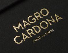 Magro Cardona on Behance • gold foil on matte black