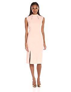 Ivanka Trump Women's Midi Scuba Crepe Dress