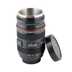 osell wholesale dropship New Retractable Zoom EF 24-70mm 1:2.8L USM Lens Coffee Thermos Cup Mug for Caniam $8.71
