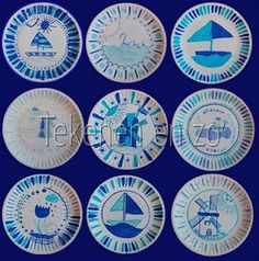 The Delft Blauw or Delftware. A blue and white pottery from Royal Delft- Koninklijke Porceleyne Fles, the last Delft potter. Doodle Drawing, Drawing Sheet, Projects For Kids, Diy For Kids, Art Projects, Black Construction Paper, Ecole Art, Artists For Kids, Plate Crafts