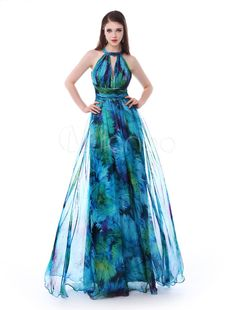 Chic A-line Halter Cut Out Chiffon Prom Dress Cheap Dresses, Nice Dresses, Formal Dresses, Sexy Dresses, Dress Outfits, Fashion Dresses, Evening Dresses, Summer Dresses, Frack