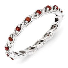 Sterling Silver Mothers Garnet Gemstone Stackable Eternity Ring Available Exclusively at Gemologica.com Valentine's Day 2017 #Jewelry #Gift #Ideas for #Him #Her Kids. #Gemologica has simple, unique #gifts for boyfriend, girlfriend, couples including #rings #earrings #bracelets #necklaces #pendants #Jewellery #couponcode #deals #sale #Presents for #girlfriends #boyfriends #kids #men #women #Gold #Silver #Fashion #Style