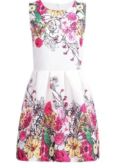 Shop White Sleeveless Red Floral Loose Dress online. Sheinside offers White Sleeveless Red Floral Loose Dress & more to fit your fashionable needs. Free Shipping Worldwide!