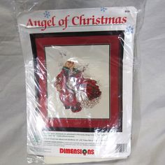 Angel of Christmas Counted Cross Stitch Kit Dimensions Open Missing Needle Only #Dimensions #COUNTEDCROSSSTITCH