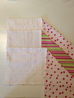 Homemade burp cloths. Super easy to make on my new serger