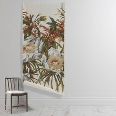 This mural is supplied in 3 drops, each measuring wide, with an overlap which allows you to simply trim to fit. The V&a, Botanical Gardens, Bud, Wall Murals, Bloom, Cushions, Gallery, Shop, Prints