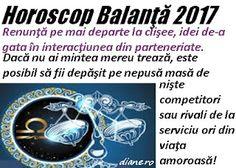 Horoscop 2017 Balanţă Astrology