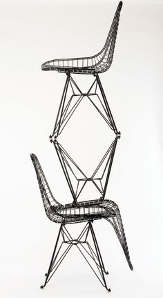 Modernica Case Study Wire chairs with Eiffel base