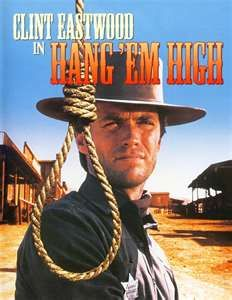 """""""Hang 'Em High"""" is an American Western film starring Clint Eastwood and Inger Stevens. Helped by the beautiful widow """"Jed"""" is appointed Marshall and goes on the hunt for bad guys led by Ed Begley. He finds satisfaction by the end of this fine movie. Clint Eastwood, Eastwood Movies, Classic Movie Posters, Classic Movies, Old Movies, Great Movies, Inger Stevens, Peliculas Western, Little Dorrit"""