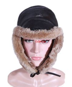 Ladies raf brown / ginger aviator #shearling #sheepskin ww2 flying #winter warm h,  View more on the LINK: http://www.zeppy.io/product/gb/2/262738047442/