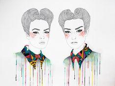 Izziyana Suhaimi's Embriodered Illustrations   Trendland: Fashion Blog & Trend Magazine