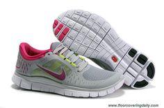 9955e55817256 Discounts White Cool Grey Fuchsia Womens 510642-061 Nike Free Run 3 Running  Shoes Nike