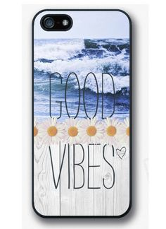 iPhone 4 4S 5 5S 5C case - Good vibes, Daisy, Ocean, Sea, Waves