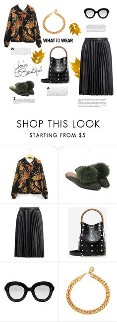 """""""What to wear now: pleated skirt"""" by stellina-from-the-italian-glam ❤ liked on Polyvore featuring Rachel"""