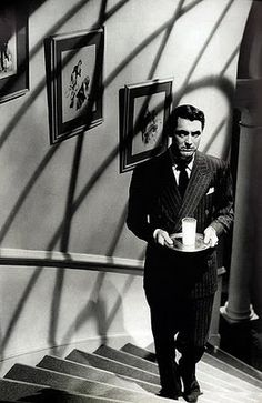 """Johnnie Aysgarth (Cary Grant): """"If you're going to kill someone, do it simply."""" -- from Suspicion (1941) directed by Alfred Hitchcock"""
