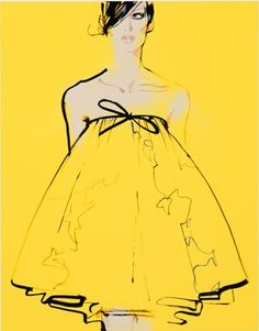 Yellow, Illustration #fashion #illustration #design