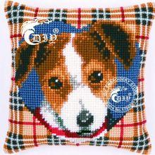 2016 Cross Stitch Cushion Kits Tapestry Canvas 40x40cm England Dog Pillows Diy Acrylic Yarn Kits for Embroidery Sofa Cushion(China (Mainland))