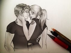 Dedicated to: Trevorific I have to say I really enjoyed Divergent Tris and Tobias are really good characters. I draw this like. Divergent Fan Art, Divergent Fandom, Divergent Trilogy, Divergent Jokes, Tris And Tobias, Tris And Four, Fanart, Divergent Insurgent Allegiant, Veronica Roth