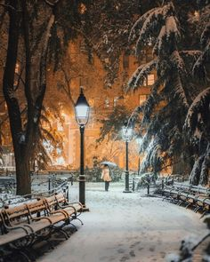 Washington Square Park, Manhattan, NYC in winter - Felt like I was about to enter Narnia while returning home the other evening 🌂 Winter Szenen, I Love Winter, Winter Magic, Winter Holidays, Winter Christmas, Winter Photography, Nature Photography, Travel Photography, Snow Scenes