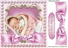 SWEET BABY GIRL SLEEPING IN PEARL FRAME 8X8 on Craftsuprint - Add To Basket!