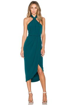 Shona Joy The Pass Knot Draped Dress in Peacock | REVOLVE