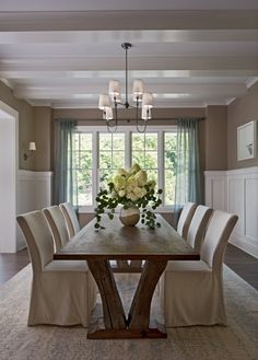 18 Marvelous Dining Room Designs To Serve You As Inspiration - Esszimmer Ideen Dining Room Walls, Dining Room Design, Dining Room Furniture, Girls Bedroom, Room Feng Shui, Traditional Dining Rooms, Small Dining, Interiores Design, Home Remodeling