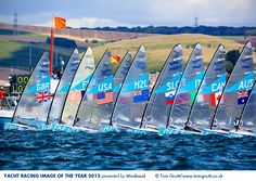 A Sailing Event in the 2012 Olympic Games in Portland, England