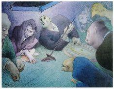 Walter Schnackenberg May Lauterberg - 10 January Degerndorf im Landkreis Rosenheim) was a German painter and illustrator. Dream Book, Vintage Artwork, Berg, Colour Images, World War Two, Caricature, Graphic Art, Graphic Design, Surrealism