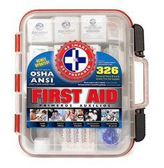 First Aid Kit Hard Red Case 326 Pieces Home camping Car Travel Trauma Medical #FirstAidKit