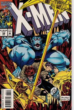X-Men Deluxe 34 1991 1st Series July 1994  Marvel Comics