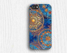 Etsy - Blue and Gold Mandala Phone Case   iphone 5c cases iphone cases 4 iphone 5s casesiphone 5c by up2case, $9.99